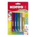 Lepidlo Kores  Glitter glue - sada 5ks (barevné lepidlo se třpytkami)