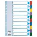 Rozřaďovač A4 1-10 listů papírový Esselte Mylar 100161