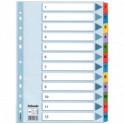Rozřaďovač A4 1-12 listů papírový Esselte Mylar 100162
