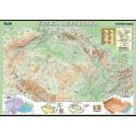 Česká republika - fyzická mapa XL (100x70 cm)