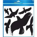 Samolepicí etikety - Siluety dravých ptáků