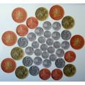 Didaktické peníze (mince) - sada na magnetickou tabuli plná, 40ks