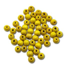 Pedig - Korálky 10 mm – žluté 50 ks