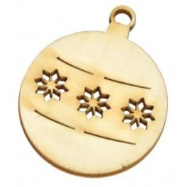 Dřevěné výřezy - vánoční ozdoba