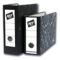 Pořadač HIT A5 8cm pákový na výšku mramor černý