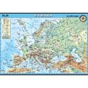 Evropa - fyzická mapa XL (100 x 70 cm)